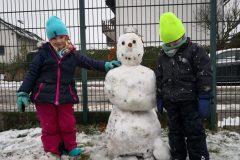 Der erste Schneemann 2020