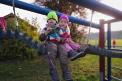 Schokokeks auf dem Spielplatz in Langwaden