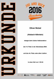JogAndRock Urkunde